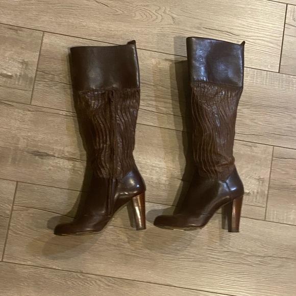 Dolce & Gabana Brown Tall Boots Sz 37